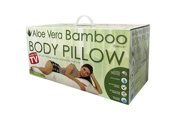 Hypoallergenic Aloe Vera Bamboo Memory Foam Body Pillow by Aloe 99