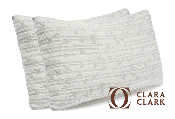 Adjustable Bamboo Memory Foam Pillows by Clara Clark