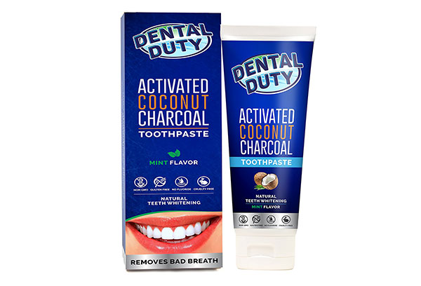 Activated Charcoal Teeth Whitening Toothpaste by Dental Duty