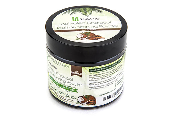Activated Charcoal Teeth Whitening Powder with Organic Cinnamon